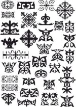 Kazakh Patterns Vector Free Vector