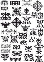 Kazakh Patterns Vector Free Vector
