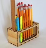 Pencil Holder Desktop Organizer Laser Cut Template