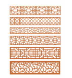 6 patterns dxf for cnc