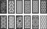 Pattern vectors dxf file