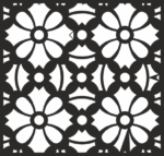 Square Floral Pattern Vector Free Vector