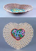 Laser Cut Flower Fruit Basket Candy Basket