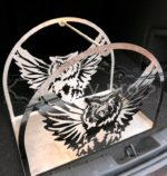 Flying Owl Metal Firewood Rack Holder