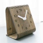 Laser Cut Modern Minimalist Desktop Clock Template
