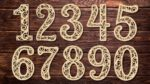 'Laser Cut Decorative Number Cutting Template