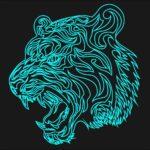 Tiger Laser Acrylic Engraving