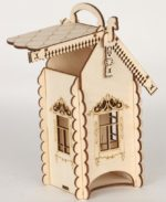 Laser Cut Engraved Tea House With Horses 4mm