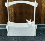 Wooden Basket With Hummingbird Decorative