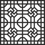 Geometric Jali Design Free Vector'