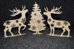 Deer At Christmas Tree Laser Cutting Plans CNC
