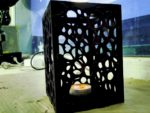 Plywood Lamp Candle Lantern Laser Cut Template