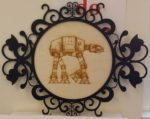 Laser Engraved AT-AT Walker In Laser Cut Decor Frame
