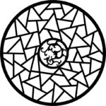 Circle Geometric Ornament Vector dxf File