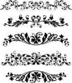 Black Vector Ornaments Set Free Vector