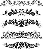 Black Vector Ornaments Set Free Vector