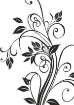 Floral Silhouettes Vector Art Free Vector