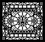 Decorative Partition Wall Pattern Free Vector