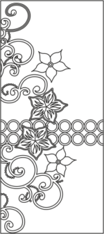 Floral Design Wardrobe Door Vector Free Vector