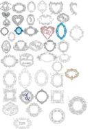 Wedding Monogram Vector Art Collection Free Vector