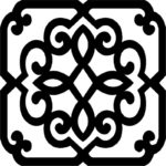 Wrought Iron Frame Pattern dxf File