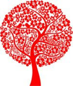 Abstract Love Tree Vector Free Vector