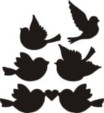 Love Birds Silhouette Vectors Free Vector
