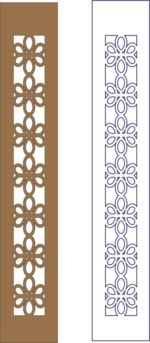 Flower decorative frame pattern dxf File