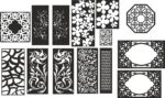 Abstract Floral Pattern Vectors Set Free Vector