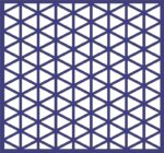 Repeating Triangle pattern dxf File