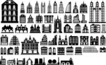 'Building Silhouette Vector Free Vector'