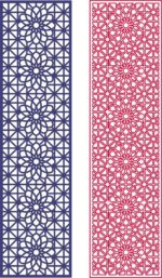 Seamless Curved Star Pattern Design dxf File