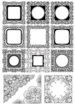 Square Frame Ornamental Vectors Free Vector
