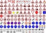 Road Sign Vector Set Free Vector