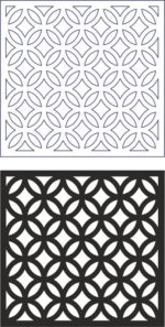 Vector Geometric Seamless Pattern Modern dxf File