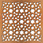 'Arabic Geometric Laser Cut Pattern dxf File'