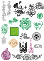 Chinese ancient pattern vectors Free Vector