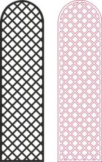 Lattice Privacy Screen Pattern dxf File