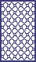 Seamless Separator Panel Pattern dxf File