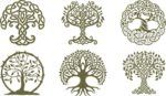 Celtic Trees dxf File