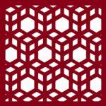 3D Cubes Laser Cut Pattern dxf File