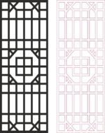 'Outdoor Privacy Screen Panels Fence Divider Pattern dxf File'
