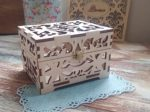 Laser Cut Souvenir Box Casket For Rings Jewelry Box With Lid Free Vector