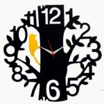 DIY Tree Bird Wall Clock Free Vector Design