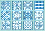 PATTERN ARABESQUE FREE VECTOR  AI