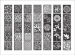 DECORATIVE PATTERNS  DXF