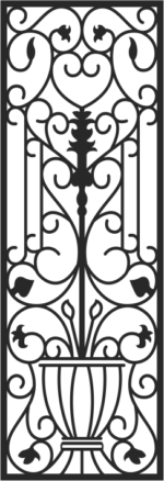 Faux Wrought Iron Pattern Free Vector