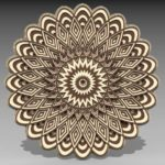 Free Multilayer mandala 3d laser cut models download