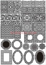 Free Vector Laser Cut Panels Decorative Pattern