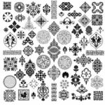 Free Simple Black and White Patterns vector file download
